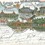 pocztówka z 1899 z ryciną uzdrowiska (obecnie starostwo)